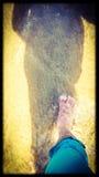 Weg auf dem Strand Lizenzfreie Stockbilder
