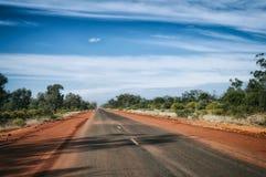 Weg in Australië Stock Afbeeldingen