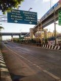 weg in Bangkok, Thailand Stock Afbeelding