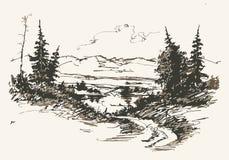 Weg in bergen Stock Afbeelding