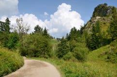 Weg in bergen Stock Foto's