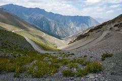 Weg in bergen Royalty-vrije Stock Afbeeldingen