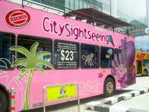Weg bezienswaardigheden bezoekend de op-hop van de bushop in Singapore, Azië stock afbeelding
