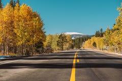 Weg bij de herfst in Colorado, de V.S. Stock Fotografie