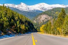 Weg bij de herfst in Colorado, de V.S. Stock Afbeelding