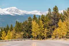 Weg bij de herfst in Colorado, de V.S. Royalty-vrije Stock Afbeeldingen