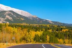 Weg bij de herfst in Colorado, de V.S. Royalty-vrije Stock Fotografie
