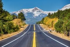 Weg bij de herfst in Colorado, de V.S. Royalty-vrije Stock Foto