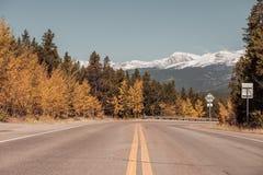 Weg bij de herfst in Colorado, de V.S. Stock Foto's