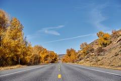Weg bij de herfst in Colorado, de V.S. royalty-vrije stock foto's