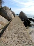 Weg bij het strand Stock Afbeelding