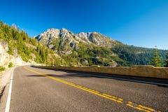 Weg bij Meer Tahoe in Californië Royalty-vrije Stock Foto