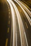 Weg bij nacht Stock Afbeeldingen