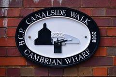 Weg Birminghams Canalside - walisischer Kai Lizenzfreie Stockfotografie
