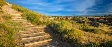 Weg bis zum Hügel Stockbilder