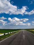 Weg blauwe hemel Stock Afbeelding
