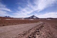 Weg in Bolivië Royalty-vrije Stock Foto