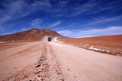 Weg in Bolivië Stock Foto
