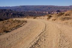 Weg in Bolivië Stock Foto's