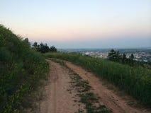 Weg boven stad de Zuid- van Dakota Stock Fotografie