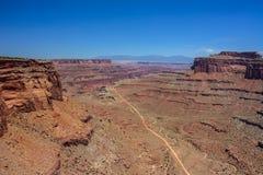 Weg in Canyonlands Nationaal Park, Utah Stock Foto