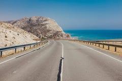 Weg in Cyprus Stock Foto's