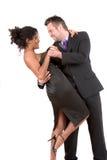 Weg dansend de nacht Royalty-vrije Stock Afbeeldingen
