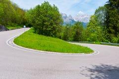Weg in de Alpen Royalty-vrije Stock Afbeelding