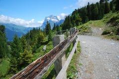 Weg in de berg Royalty-vrije Stock Foto
