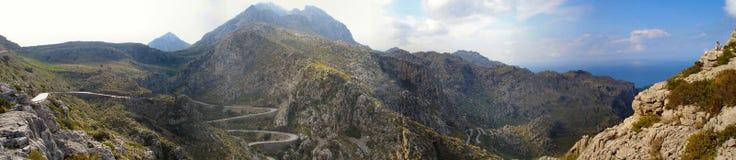 Weg in de berg van Majorca Stock Foto