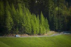 Weg in de Dolomietbergen, Italië stock foto