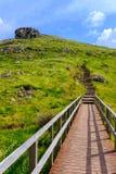 Weg in de heuvels Royalty-vrije Stock Afbeeldingen