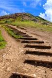 Weg in de heuvels Stock Foto's
