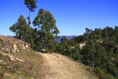 Weg in de Himalayan-Bergen, Nepal Stock Afbeeldingen