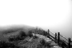 Weg in de mist Stock Afbeeldingen