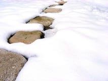 Weg in de sneeuw Royalty-vrije Stock Afbeelding