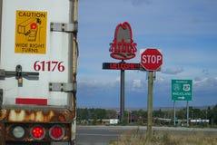 Weg de Tusen staten van Wyoming Stock Foto's