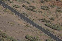 Weg in de Woestijn royalty-vrije stock foto's