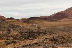 Weg in de woestijn de Sahara Royalty-vrije Stock Afbeeldingen
