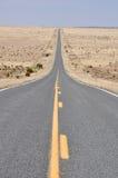 Weg in de woestijn van New Mexico royalty-vrije stock foto's