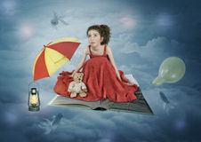 Weg in den Wolken Lizenzfreies Stockbild