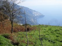 Weg der Götter in der Seifenlösung Italien stockbilder