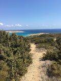 Weg, der zu den Strand führt Stockbild