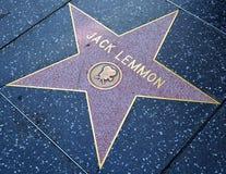 Weg des Ruhmsternes von John Uhler-` Jack-` Lemmon III Stockfotografie