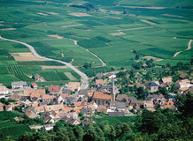 Weg-DES vins Elsass Frankreich Stockfoto