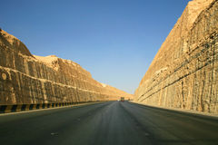 Weg dichtbij Riyadh Royalty-vrije Stock Foto's