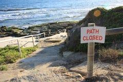 Weg die aan strand wordt gesloten Royalty-vrije Stock Foto