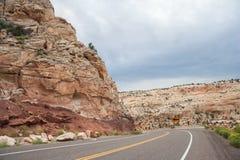 Weg die Grote Trap in Escalante Nationaal Monument Utah de V.S. doornemen Royalty-vrije Stock Foto's