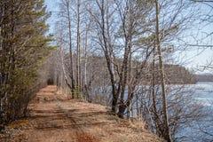 Weg die langs de rivier gaan Stock Afbeeldingen