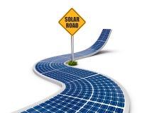 Weg die van de zonnepanelen wordt gemaakt Royalty-vrije Stock Afbeeldingen